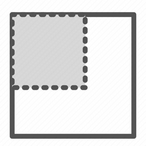 corner, left, photo, picture, position icon