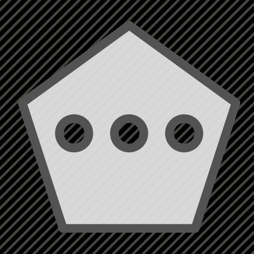 box, chat, polygon, shape icon