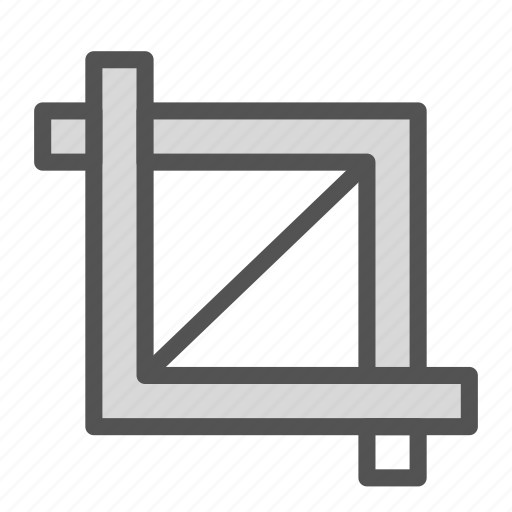 crop, edit, scale, tool icon