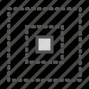 center, dotted, square icon