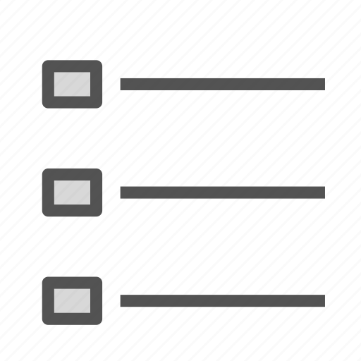 list, point, square icon