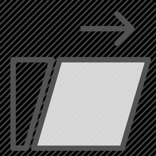 arrrow, back, right, screen, swipe icon