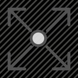 arrows, circle, target icon