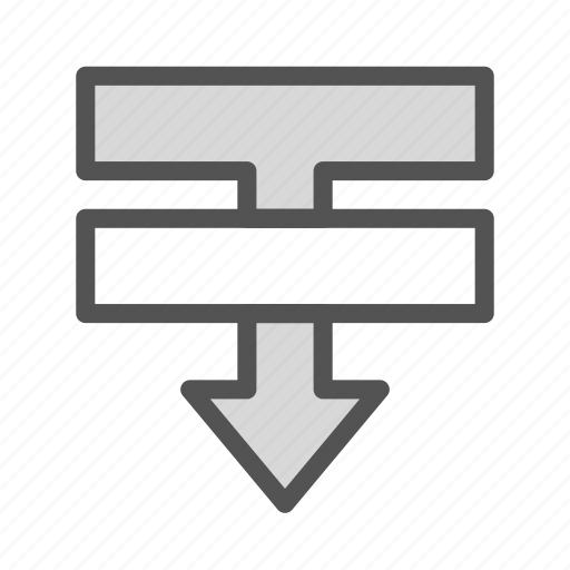after, bottom, document, insert, text, tool icon