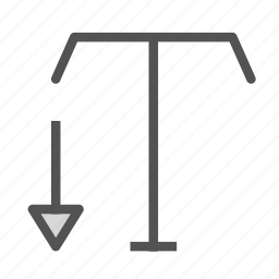 edit, height, scale, small, text icon