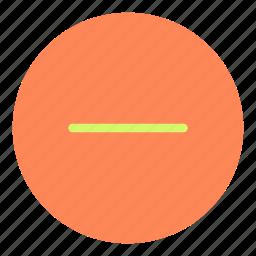 circle, minus, remove, shape, sign icon