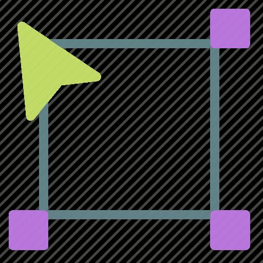 box, cursor, edit, scale icon