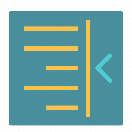 document, file, indent, left, text icon