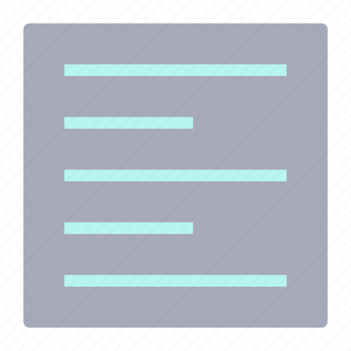 align, document, file, left, text icon