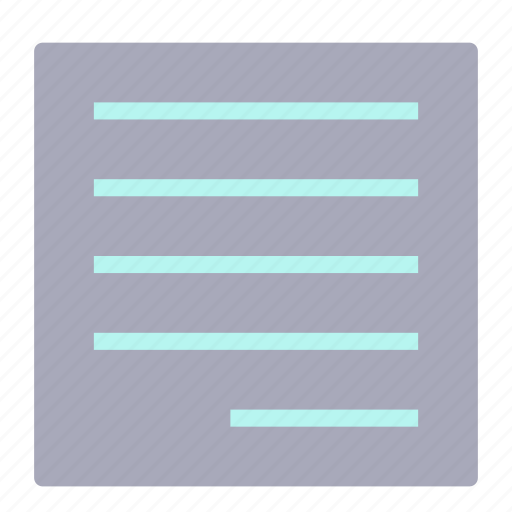 document, file, normal, right, text icon