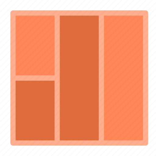 column, four, layout, left, presentation icon