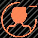 avatar, figure, man, minus, remove, user icon