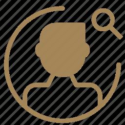 avatar, figure, man, search, user icon