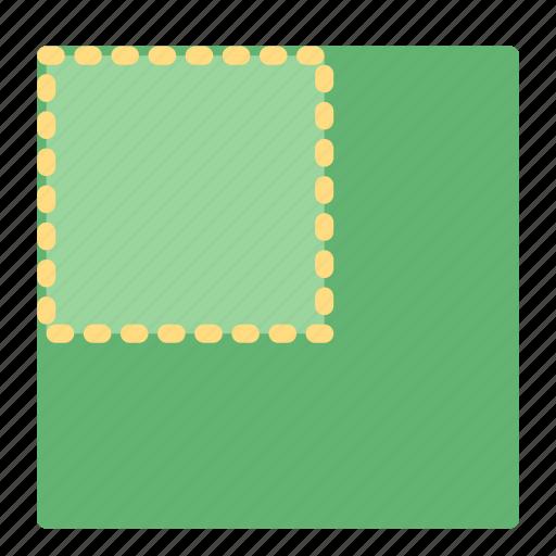 corner, left, photo, picture, position icon
