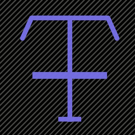 cross, edit, line, text icon