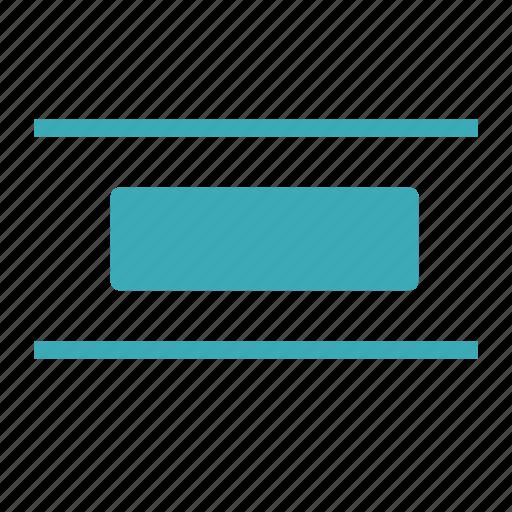distribute, document, horizontally, text icon