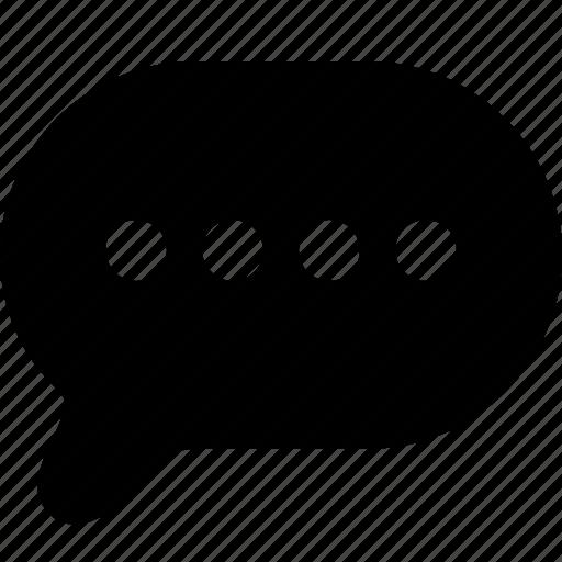 bubble, chat, communication, interface, message, talk icon
