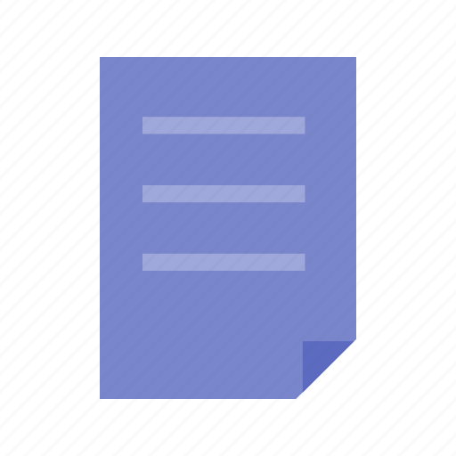 document, file, list, note, page, report icon