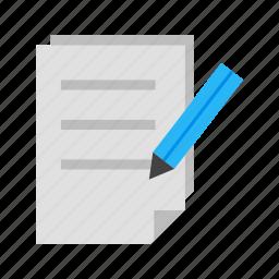 create document, document, edit, edit document, pencil, update, write icon