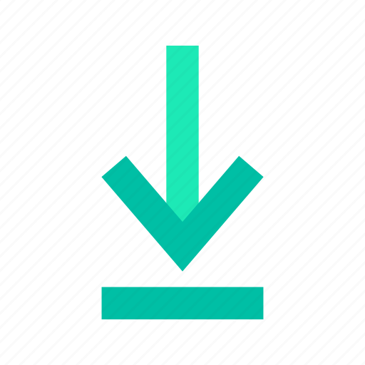 access, arrow, data, download, downward, downward arrow icon