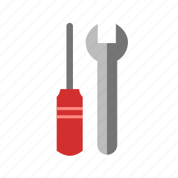 build, configurations, equipment, preferences, screw driver, tools, wrench icon