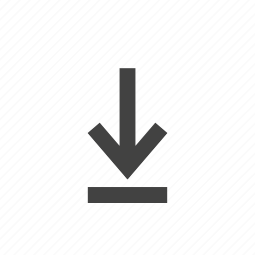 data, down, download, file, information, pointing icon