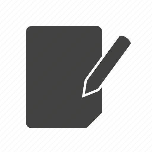 computer, document, edit, editing, file, page icon