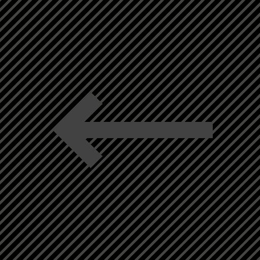 arrow, direction, internet, left, navigation icon