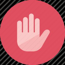 block, hand icon