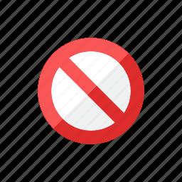 block, stop icon