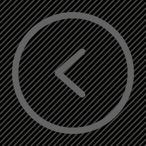 arrow, back, interface, left icon