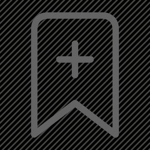add, bookmark, mark, web icon