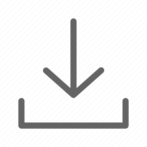 arrow, download, downloading, interface icon
