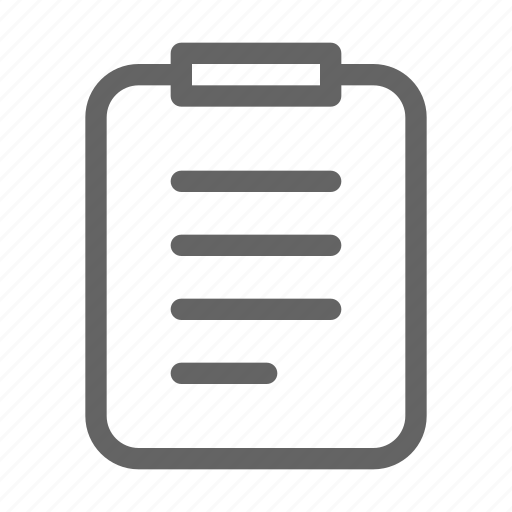 clipboard, document, note, paper icon