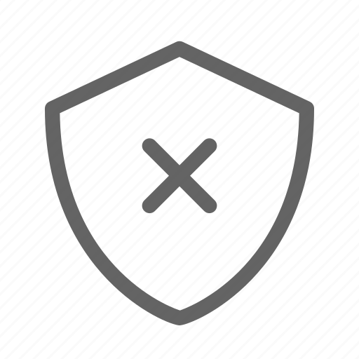 security, shield, unprotected, unsafe icon