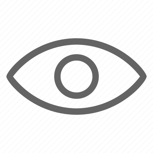 eye, show, view, visible icon