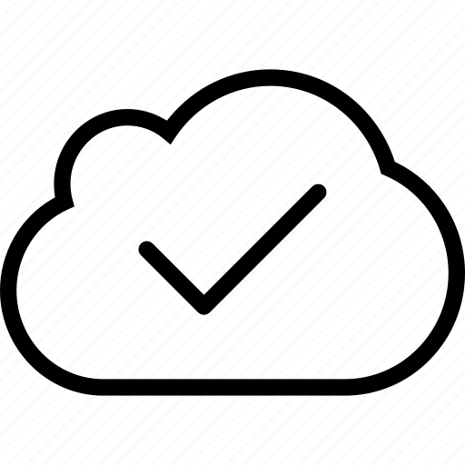 check, cloud, cloud server, interface, web icon