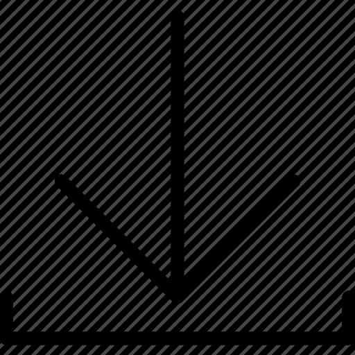 arrow, download, interface, web icon