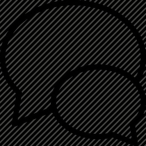 blog, comment, dialog, interface, speech bubble, web icon