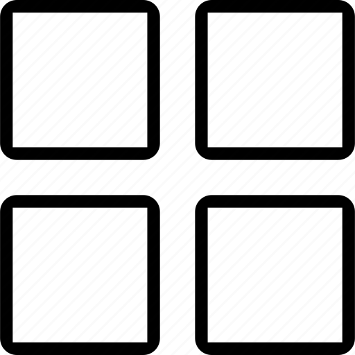 grid, interface, large view, web icon