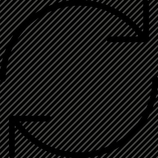 arrow, arrows, interface, refresh, web icon