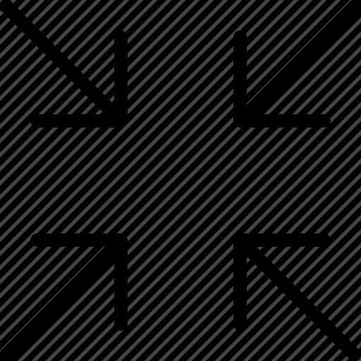 arrow, arrows, interface, resize, web icon