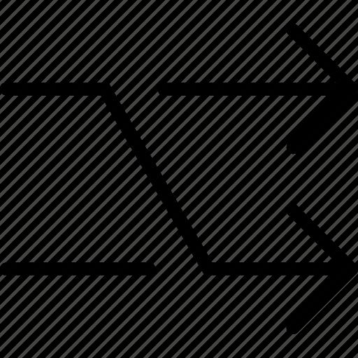 arrow, arrows, interface, shuffle, web icon