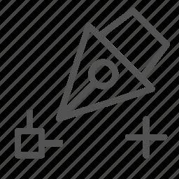 edit, pen, plus, point, scale icon