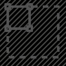 box, edit, scale, small, tool icon