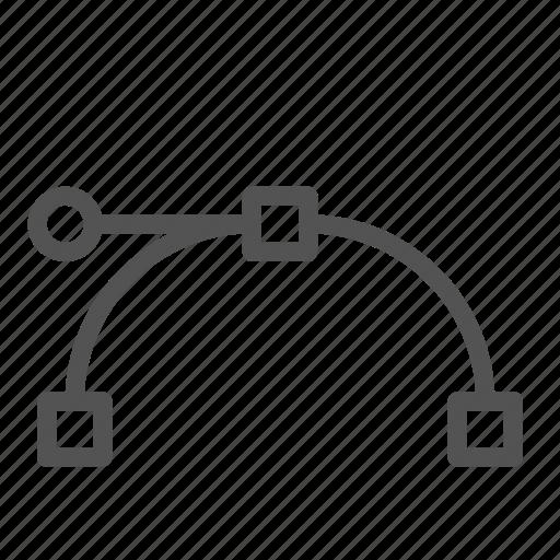 curve, edit, line, tool, warp icon