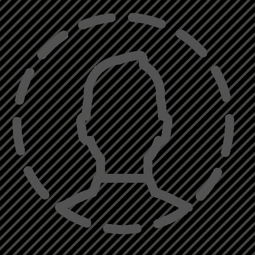 avatar, circle, dotted, man, photo icon