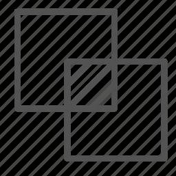 box, intersection, photo, picture, square icon