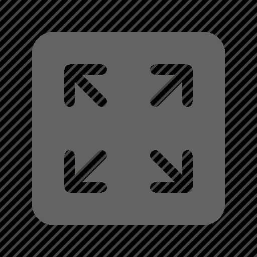extend, fullscreen, interface, maximize icon