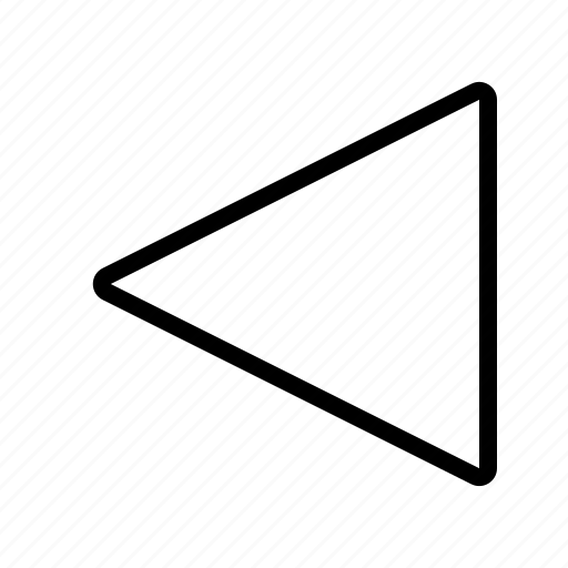 arrow, back, left, point, short icon